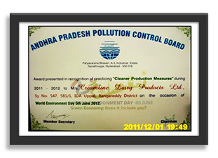 """Recognition for Practicing """"Cleaner Products Measures"""""""